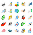concept icons set isometric style vector image vector image