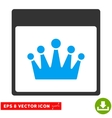 Crown Calendar Page Eps Icon vector image