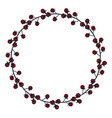 Cute frame of raspberries black silhouette