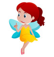 cute girl in fairy costume vector image vector image