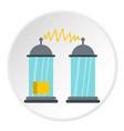 electrical impulses icon circle vector image vector image