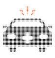 emergency car halftone icon vector image