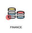 finance icon and cions symbol on white background vector image vector image