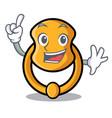 finger vintage door knocker on mascot cartoon vector image