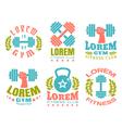 fintnes logos color vector image