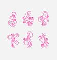 Flourish ornament vector image