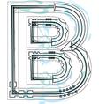Font letter B vector image vector image