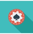 Gambling chips flat icon vector image vector image