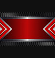 geometric background with metal grille and red vector image vector image