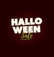 halloween-sale-title-logo vector image vector image