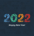 happy new year 2022 greeting card vector image