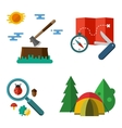 Hiking equipment vector image vector image