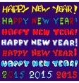 inscription set - happy new year vector image