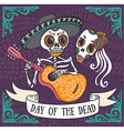 Invitation poster to the Day of the dead party Dea vector image