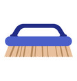 isolated cleaning brush icon vector image vector image