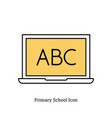 linear isolated icon - primary school icon vector image