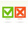 modern check mark symbols vector image
