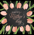 mothers day banner template with tulips flowers vector image vector image