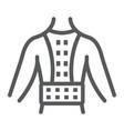 orthopedic corset line icon vector image vector image