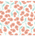 Pattern with flowers and floral elements