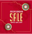 raksha bandhan sale background design vector image
