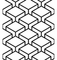 Regular contrast endless pattern with intertwine vector image vector image