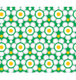 retro geometric pattern seamless white chamomile vector image