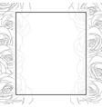 rose border banner card outline vector image vector image