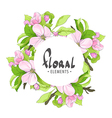Round frame with sakura flowers vector image