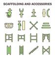 Scaffolding icon vector image vector image