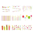 Scrapbook Design Elements Birthday Party Set vector image vector image