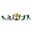 sports set athletes various sports vector image