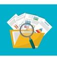 Spreadsheet document infographic design vector image