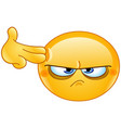 Suicide gesture emoticon vector image