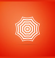 sun protective umbrella fo beach icon isolated vector image