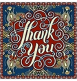 thank you handwritten lettering inscription on vector image vector image