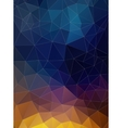 Triangle flat geometric colorful background vector image vector image