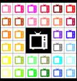 tv sign felt-pen 33 colorful vector image vector image