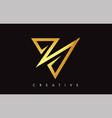 v letter logo icon design in golden colors vector image