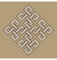 viking decorative knot - engraved - interweaved vector image vector image