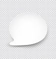 White rounded paper speech bubble vector image
