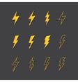 lightning icon set vector image
