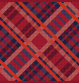 tartan seamless diagonal texture in red and blue vector image