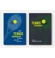 Tennis poster design vector image