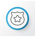 police badge icon symbol premium quality isolated vector image