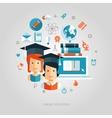 flat design education composition vector image