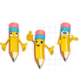 pencil character different facial expressions and vector image