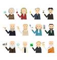 12 famous scientist icon set vector image