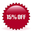 15 Off Sticker vector image vector image