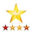 Achievement Star Set Decoration Realistic vector image vector image